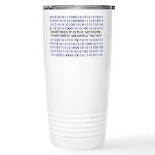 A Network Analyst's Slogan Travel Mug