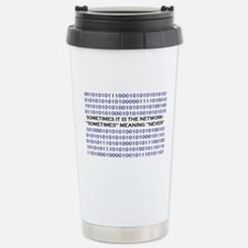 A Network Analyst's Slogan Travel Mug