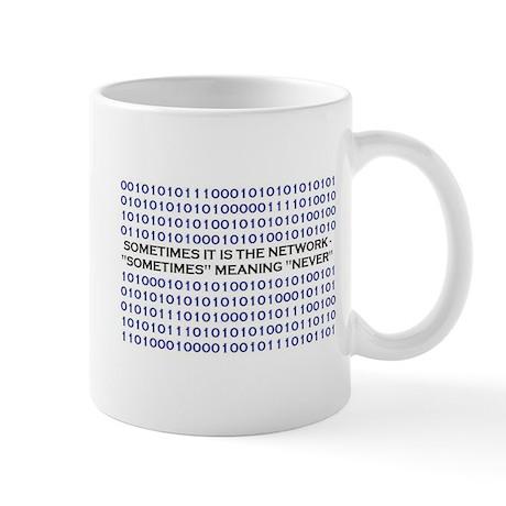 A Network Analyst's Slogan Mug