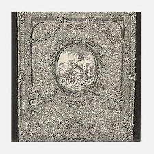 Gil Warzecha - antique illust Tile Coaster