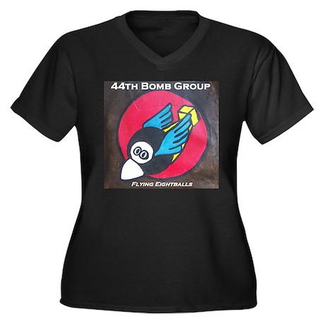 44th Bomb Group Women's Plus Size V-Neck Dark T-Sh