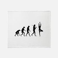 The Evolution Of Yoga Throw Blanket