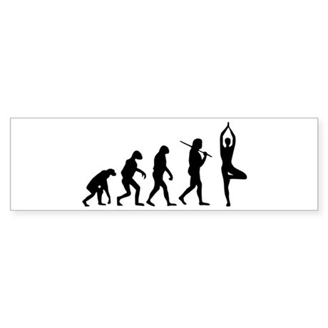 The Evolution Of Yoga Sticker (Bumper)