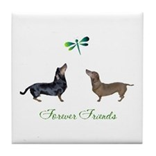 Funny Dachshunds Tile Coaster