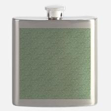 Apple Green Fractal-style Pattern Flask