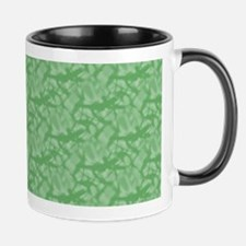 Apple Green Fractal-style Pattern Mugs