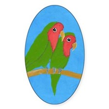 Lovebirds Oval Decal