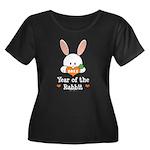 Year Of The Rabbit Women's Plus Size Scoop Neck Da