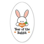 Year Of The Rabbit Sticker (Oval 10 pk)