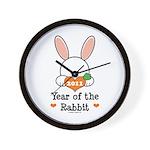 Year Of The Rabbit Wall Clock