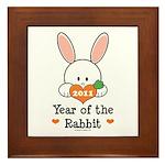 Year Of The Rabbit Framed Tile