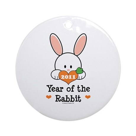 Year Of The Rabbit Ornament (Round)
