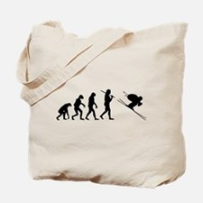 The Evolution Of The Downhill Skier Tote Bag