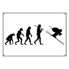 The Evolution Of The Downhill Skier Banner