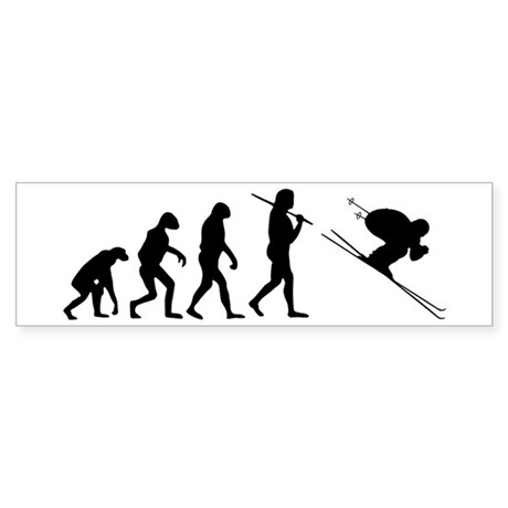 The Evolution Of The Downhill Skier Sticker (Bumpe