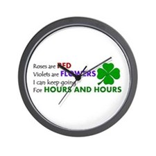 Cute St. pattys Wall Clock