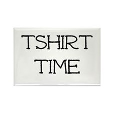 Tshirt Time Rectangle Magnet