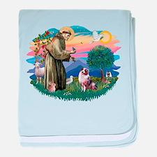 St.Francis #2/ Aus Shep (merl baby blanket