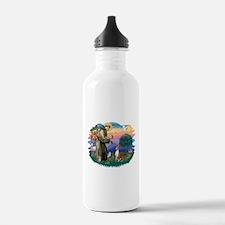 St Francis #2/ Basenji Water Bottle