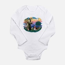 St.Francis #2/ Basset Hound Long Sleeve Infant Bod