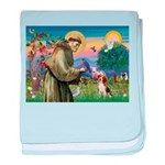 St Francis/Beagle baby blanket
