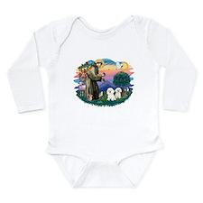 St Francis #2/ Bichon (2) Long Sleeve Infant Bodys