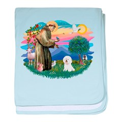 St Francis #2/ Bichon #1 baby blanket
