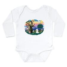 St Francis #2/ Bichon #1 Long Sleeve Infant Bodysu