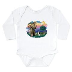 St Francis #2/ Boston Ter Long Sleeve Infant Bodys
