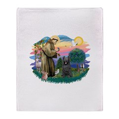 St.Francis #2/ Briard (blk) Throw Blanket