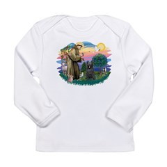 St.Francis #2/ Briard (blk) Long Sleeve Infant T-S
