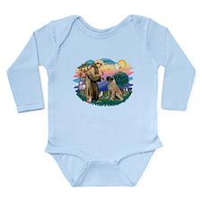 St.Francis #2/ Bull Mastiff Long Sleeve Infant Bod