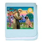 St Francis / Bullmastiff baby blanket
