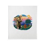 St.Fran #2/ Cavalier (r) Throw Blanket