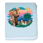 St.Fran #2/ Cavalier (2 bl) baby blanket