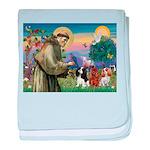 St Francis/Cavalier Trio baby blanket