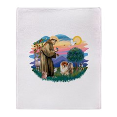 St Francis #2/ Chow (B) Throw Blanket