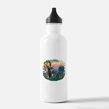 St.Fran #2/ Cocker (black) Water Bottle