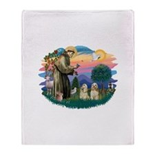 St.Francis #2/ Cockers (2buff Throw Blanket