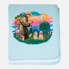 St.Francis #2/ Cockers (2buff baby blanket