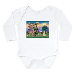 St Francis / Cocker (buff) Long Sleeve Infant Body