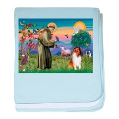 St Francis / Collie baby blanket