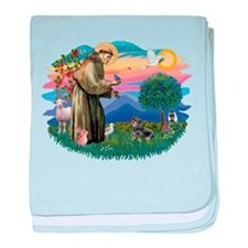 St.Fran #2/ Dachshund (BT) baby blanket