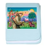 St Francis Doxie baby blanket