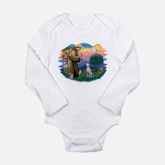 St Francis #2/ Dalmatian Long Sleeve Infant Bodysu