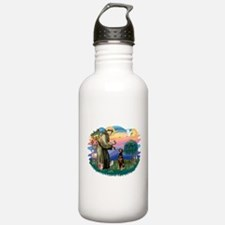 St Francis #2/ Doberman Water Bottle