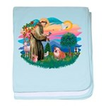 St.Francis #2/ Eng Bull (W-Br baby blanket