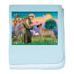 Saint Francis' Great Dane baby blanket