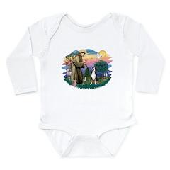 St.Francis #2/ Greater Swiss Long Sleeve Infant Bo