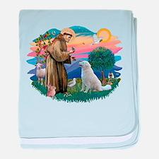 St Francis #2/ Kuvacz baby blanket